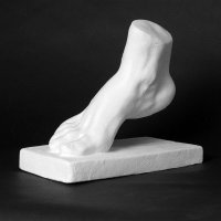 Drawing Plaster Cast Foot